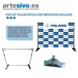 POP-UP TELESCÓPICO MEDIDAS MIN. 130 CM / MAX. 230 CM - ESTAS MEDIDAS SON TANTO EN EL ALTO COMO EN EL ANCHO