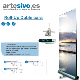 ROLL UPS / ENROLLABLES DOBLE CARA ANCHOS: 85 CM - 100 CM - 125 CM