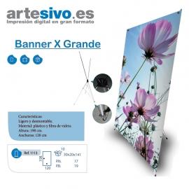 X-BANNER GRANDE 120 X 198 CM