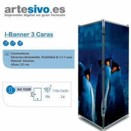 L-BANNER CON 3 CARAS