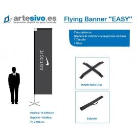 BANDERAS / FLYING BANNER CON FORMA RECTANGULAR